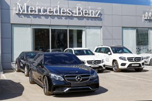 photo of mercedes benz store-front